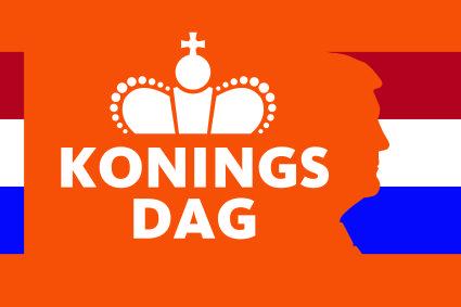 Vlag Koningsdag Koninklijke Vlaggen Centrale DVC 100x150cm