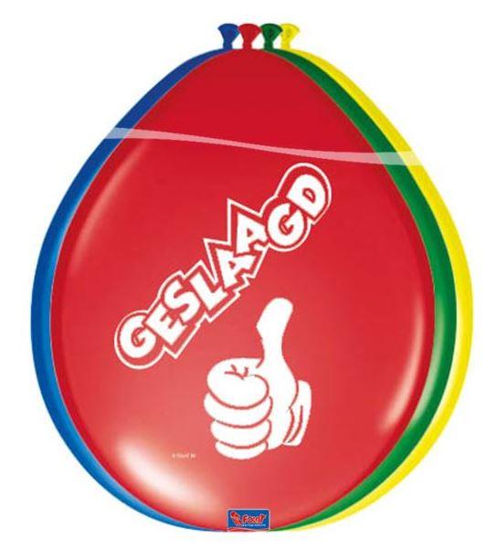 Ballonnen geslaagd met duim, 8 stuks