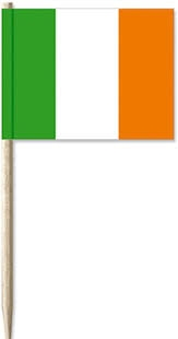 Cocktailprikkers met Ierse vlag, Ierland Kaasprikkers, 50 stuks