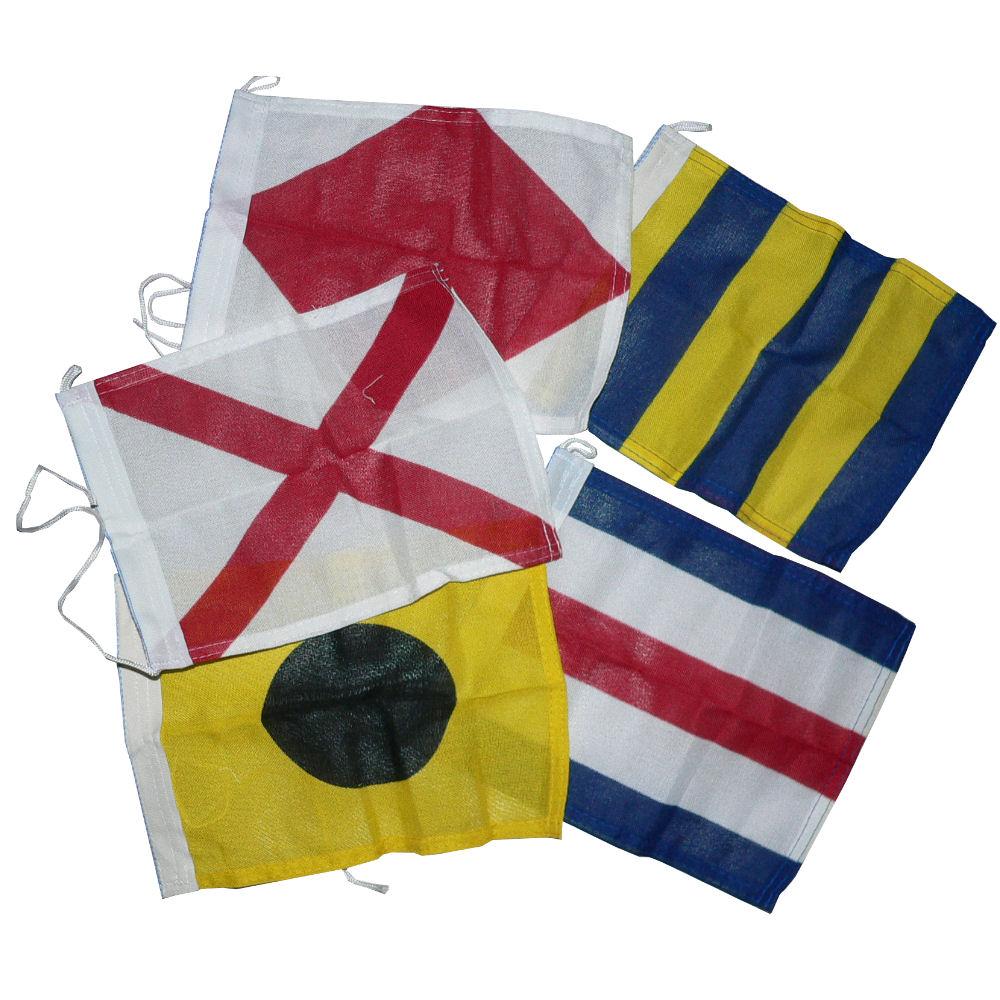 Seinstel 40 stuks seinvlaggen 20x24cm