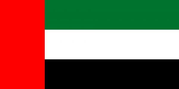 Vlag Verenigde Arabische Emiraten 100x150cm Glanspoly