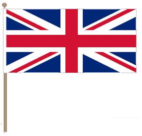 Zwaaivlag Verenigd Koninkrijk 15x22,5cm met stok van 30cm