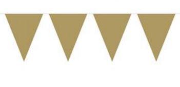 Vlaggenlijn effen goud, gouden wimpellijn 10m, PE