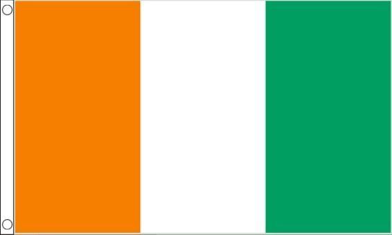 vlag Ivoorkust, Ivoriaanse vlaggen 90x150cm