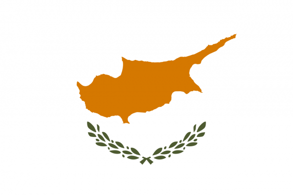 Tafelvlag Cyprus met standaard