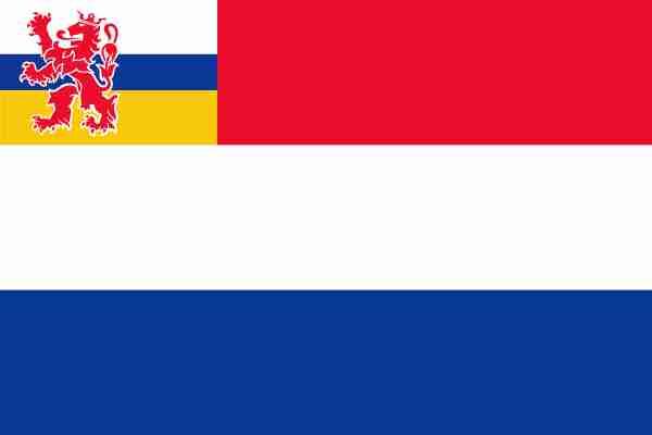 vlag Nederland met inzet Limburgse vlag 70x100cm