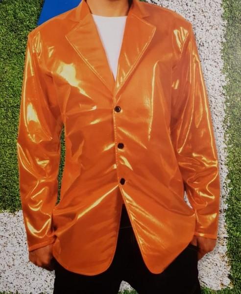 Oranje Glans Colbert maat XL