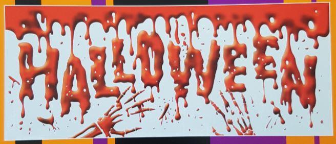 Halloween banier horror spandoek 62x150cm