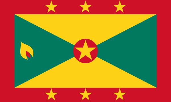 Tafelvlaggen Grenada 10x15cm | Grenadaanse tafelvlag