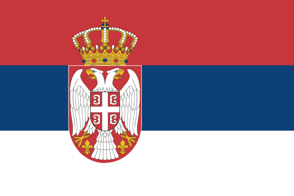 Tafelvlaggen Servië 10x15cm | Servische tafelvlag