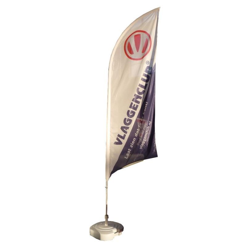 Beachvlaggen drukken met uw reclame formaat Small