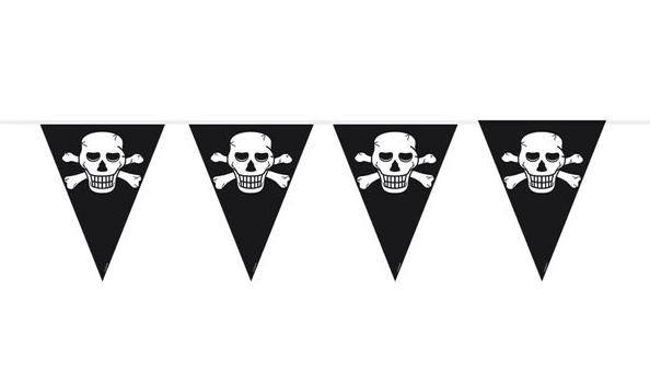 piraten vlaggenlijn feestversiering piraat