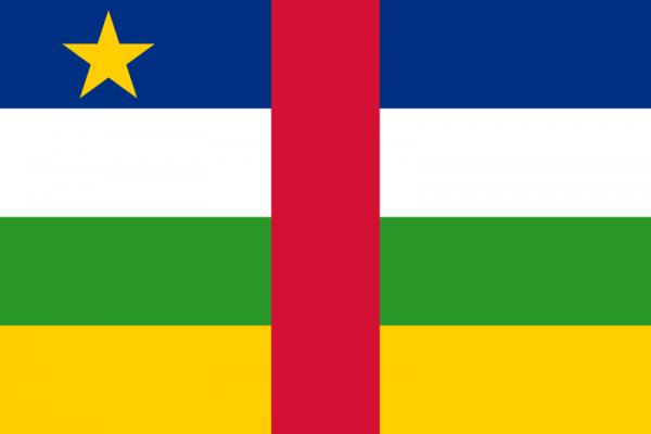 Tafelvlag Centraal Afrikaanse Republiek met standaard