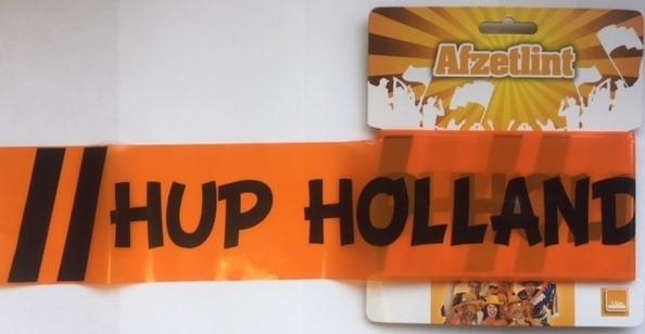 Afzetlint hop holland hup, zwarte letters 15m