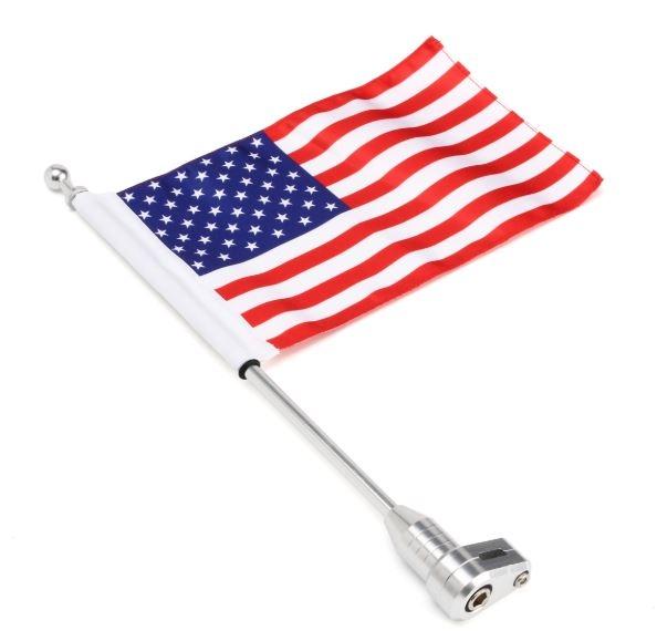 vlaggenstok voor motor bagagerek bevestiging