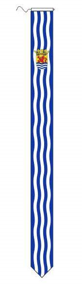 Wimpel Zeeland traditioneel 25x300cm met koord en lus