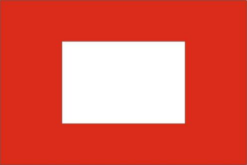 Sleepvlag 370x100cm Finish vlag rood