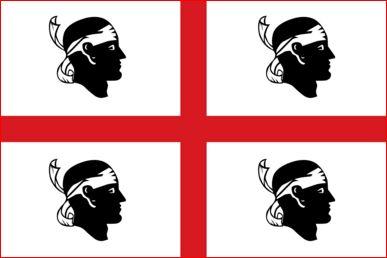 Sardijnse vlag Sardinie 30x45cm gastenvlag