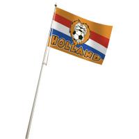 Hollandvlag Oranje met leeuw 100x150cm