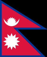 vlag Nepal 100x150cm Nepalese vlaggen