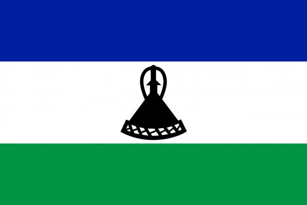 Vlag Lesotho 100x150cm Glanspoly