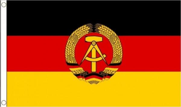 vlag Oost-Duitsland met wapen, Oost-Duitse vlag met wapen 90x150 Best Value