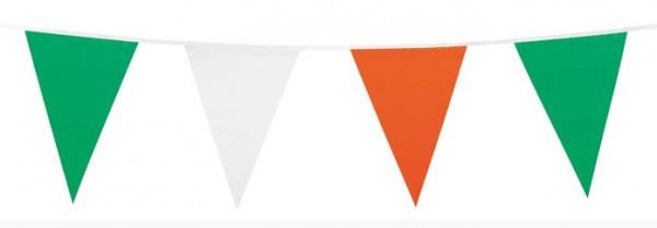 Vlaggenlijn groen/wit /oranje 10m