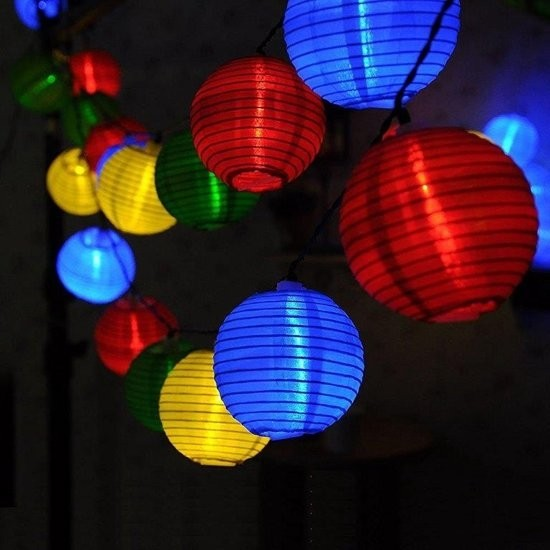 Solar Lampionketting met led verlichting