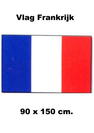 Vlag Frankrijk | Franse vlaggen 90x150cm budget