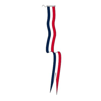 wimpel Oud Hollands 30x300cm met zwaluwstaart en met koord en lusje