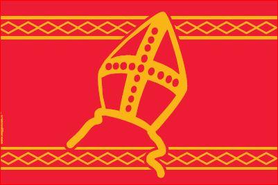 Officiele Sinterklaasvlag 200x300cm Sinterklaas vlag voor uw vlaggenmast