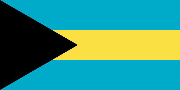 vlag Bahama's 20x30cm vlaggetje gastenvlag