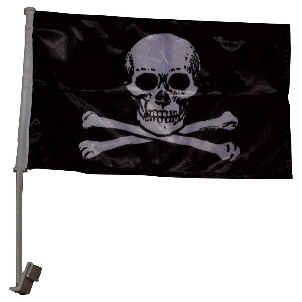 Autovlag Piraten Luxe 30x45cm Vlaggenclub