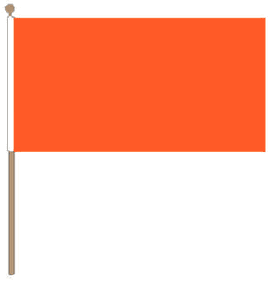 Zwaaivlag oranje 30x45cm met stok van 60cm