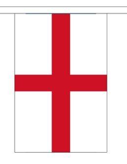 Vlaggenlijn Engeland, St. George's Cross stof 3m