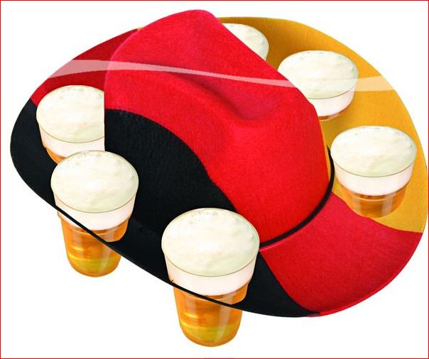 Duitse hoed voor 6 glazen bier Bierhoed vlag Duitsland