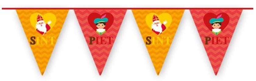 Vlaggenlijn Sinterklaas en Piet 6m