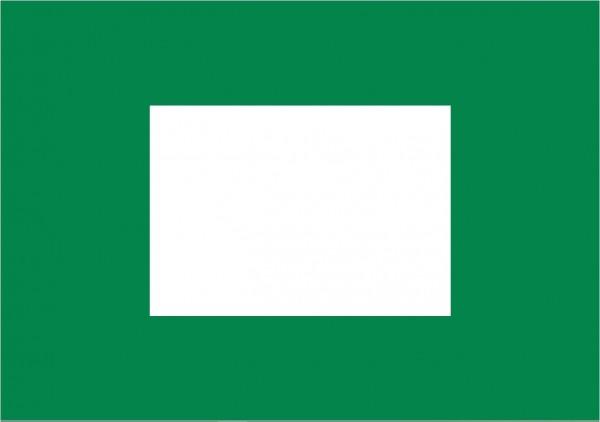 Sleepvlag 370x100cm Finish vlag groen