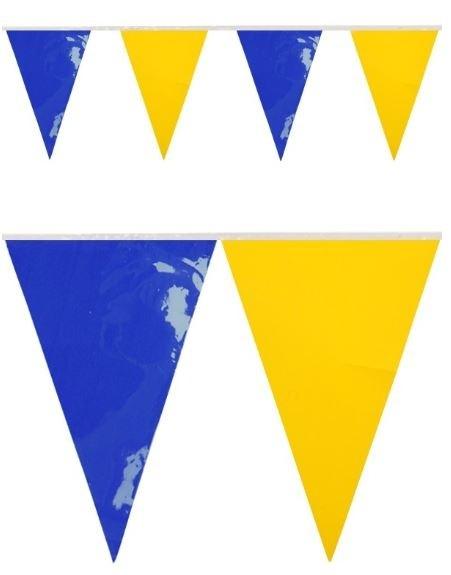 Vlaggenlijn Blauw Geel BRANDVERTRAGEND 10m