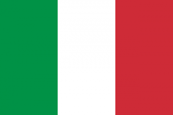 Tafelvlag Italie met standaard