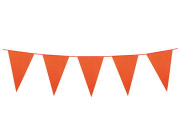 Oranje Vlaggenlijn PE 10 meter lang WK | EK met XXL wimpels