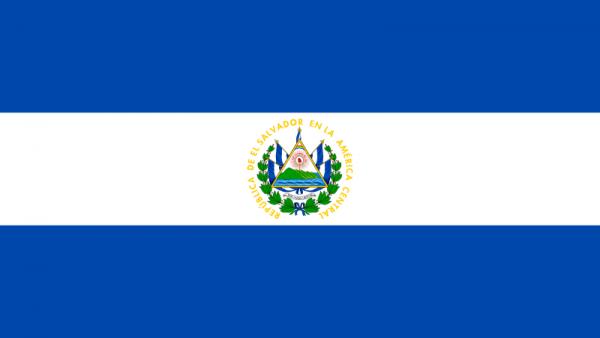Tafelvlag El Salvador met standaard