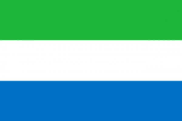 Tafelvlag Sierra Leone met standaard