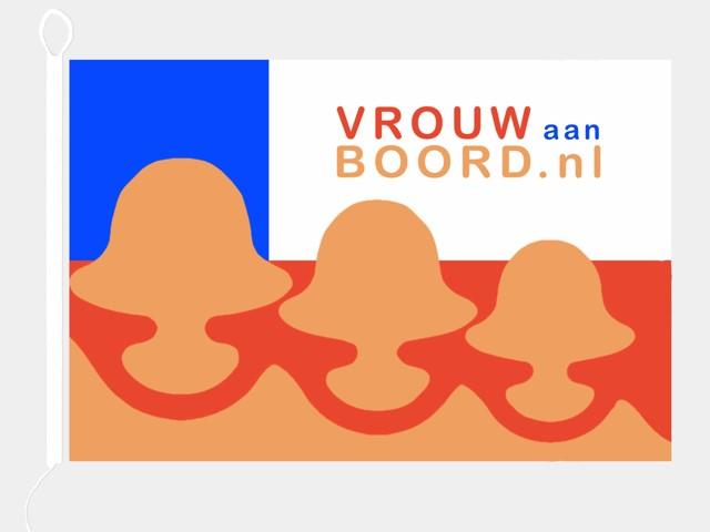 VrouwAanBoord vlag 100x150cm