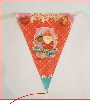 mini vlaggenlijn Sinterklaas 3m vintage