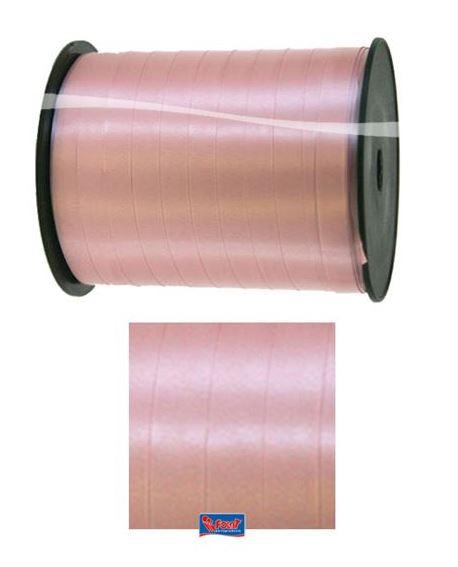 Roze lint, oud roze cadeaulint 5mm breed, 500m lang op rol
