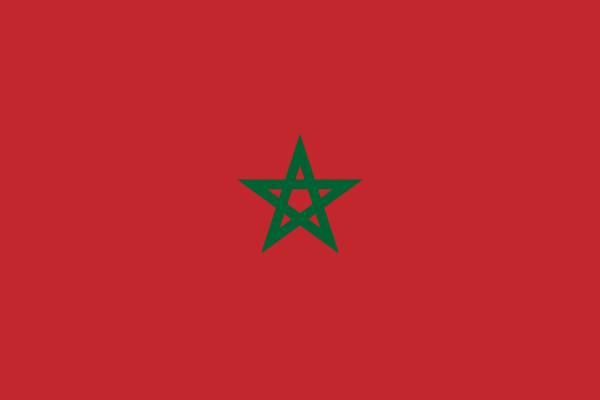 Tafelvlaggen Marokko 10x15cm | Marokkaanse tafelvlag