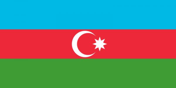 Tafelvlag Azerbeidzjan met standaard