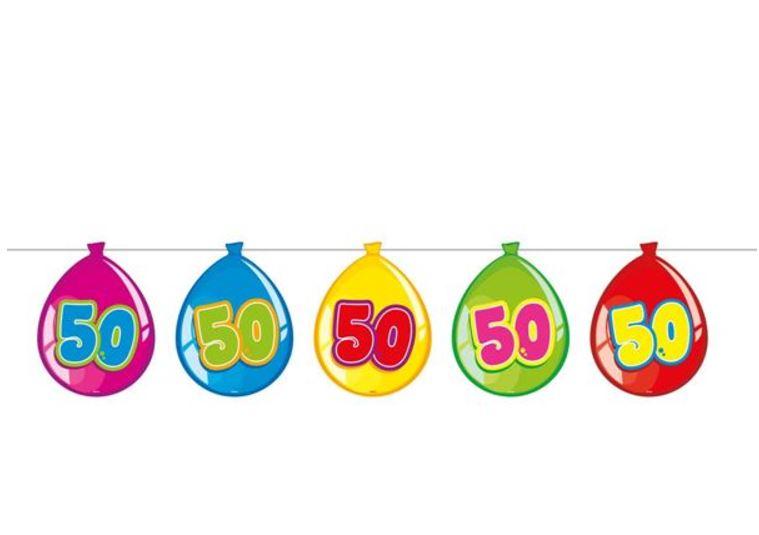 Vlaggenlijn 50 jaar ballonvormig 10m.