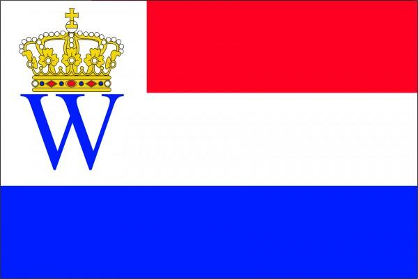 Vlag kroning kroningsvlag Willem en Maxima 150x225cm